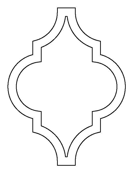 Shapes clipart moroccan #12