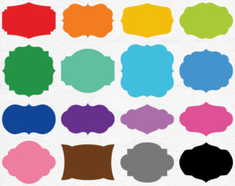 Shapes clipart printable banner #7