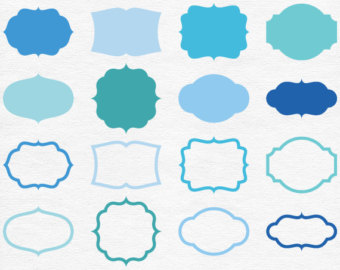 Shapes clipart printable banner #8