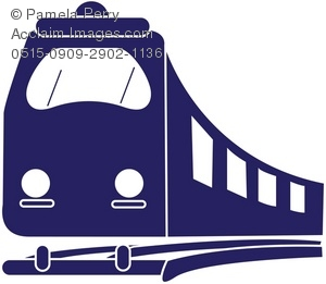 Train clipart shape #11
