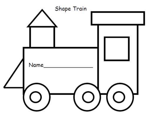 Train clipart template #1