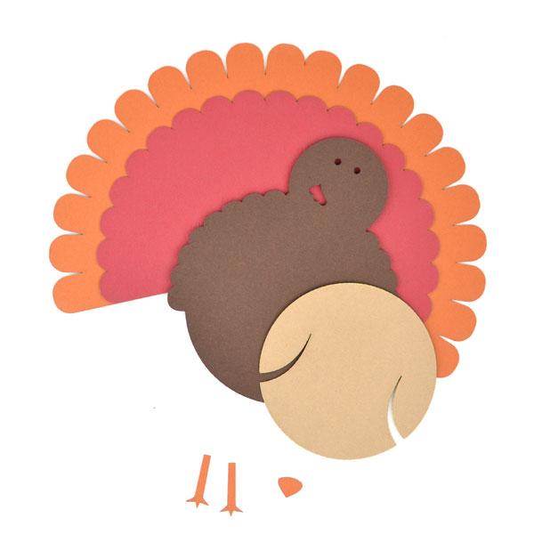 Turkey clipart shape #2