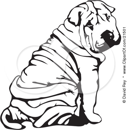 Shar Pei clipart SHARPEI ART about images on