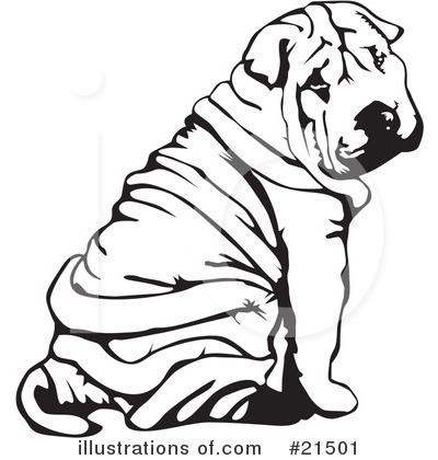 Shar Pei clipart #21501 by Clipart Dogs by