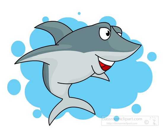 Fins clipart shark head Smiling Free Clipart shark 54