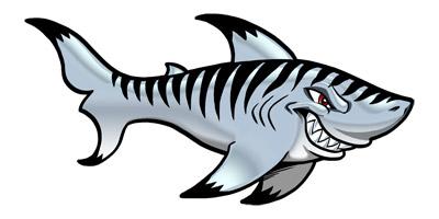 Tiger Shark clipart mean #2