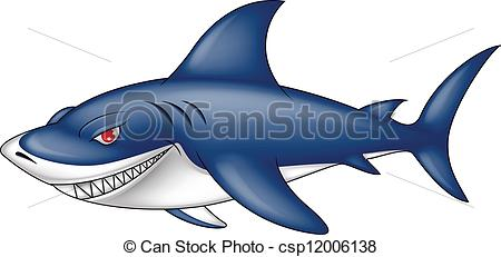Bull Shark clipart blue shark Angry of angry blue blue
