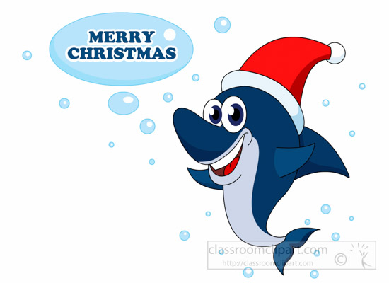 Shark clipart christmas #4