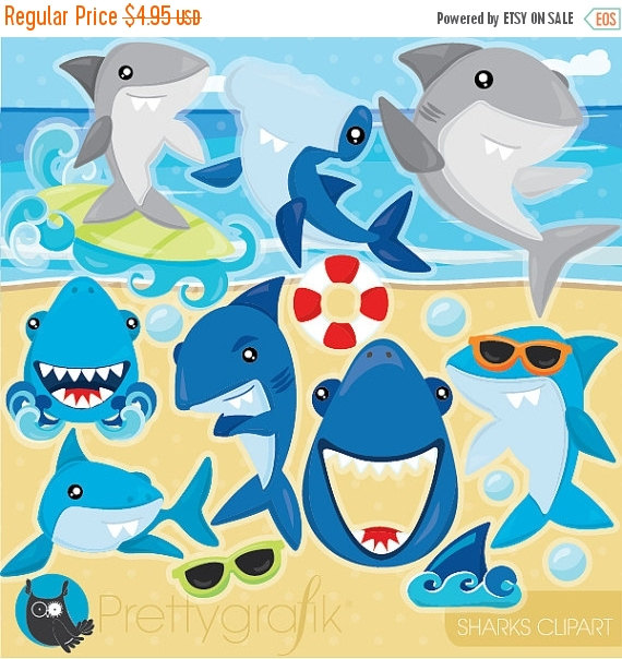 Shark clipart christmas #6