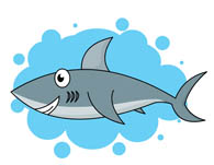 Shark clipart christmas #1