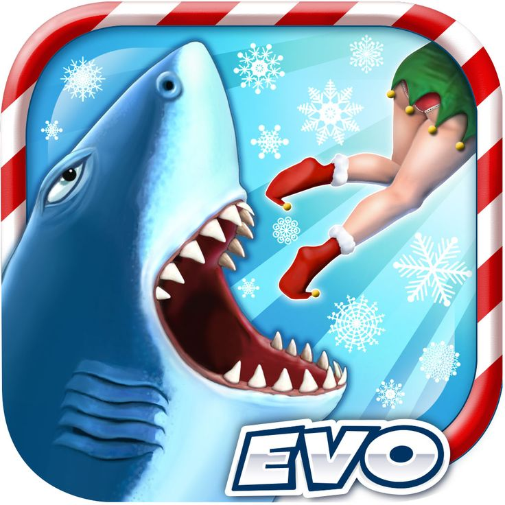 Shark clipart christmas #13