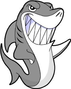 Shark clipart christmas #2