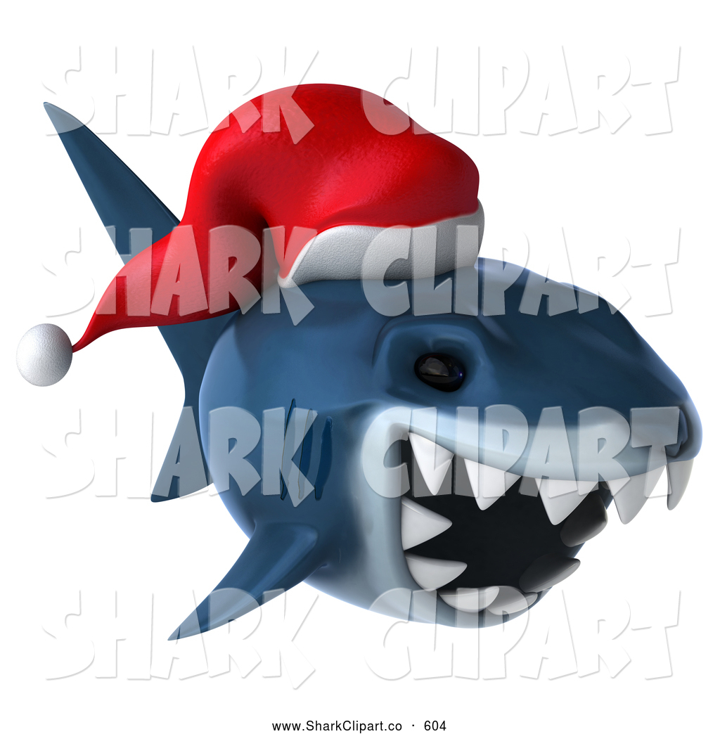 Shark clipart christmas #5