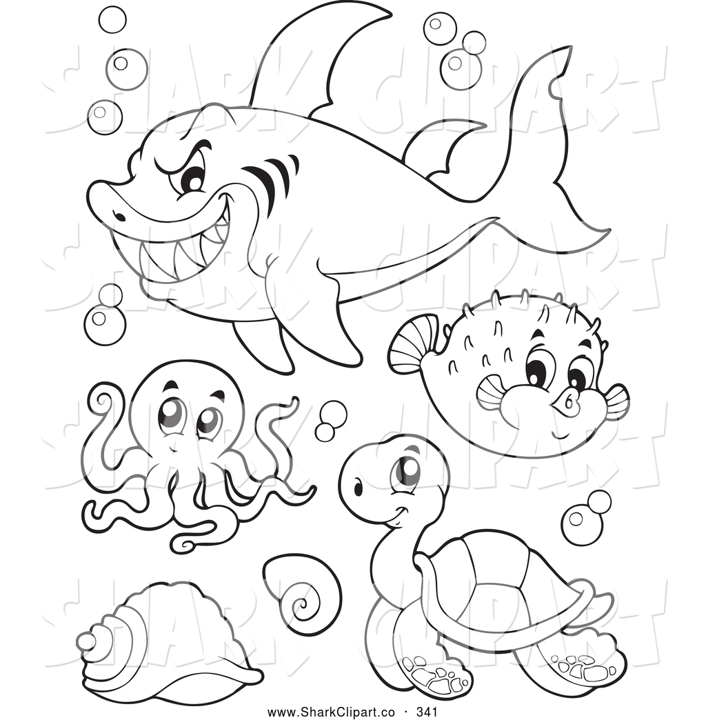 Octopus clipart coloring book Stock of Pages of Free