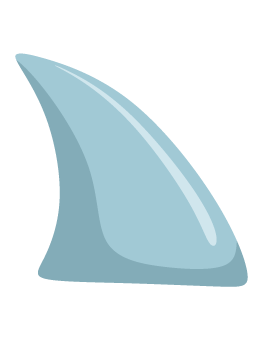 Fins clipart shark head Shark Photo Props: Fin Prop