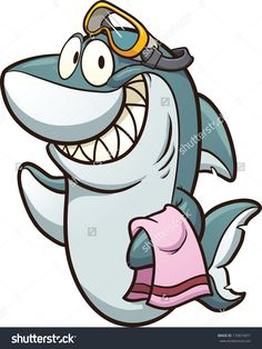 Drawn shark comic Search Cartoon wearing simple with