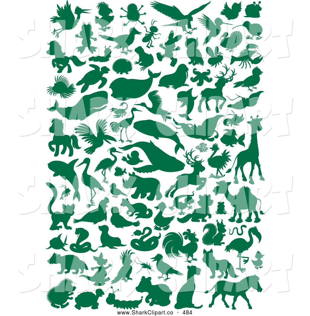 Shark clipart green #8