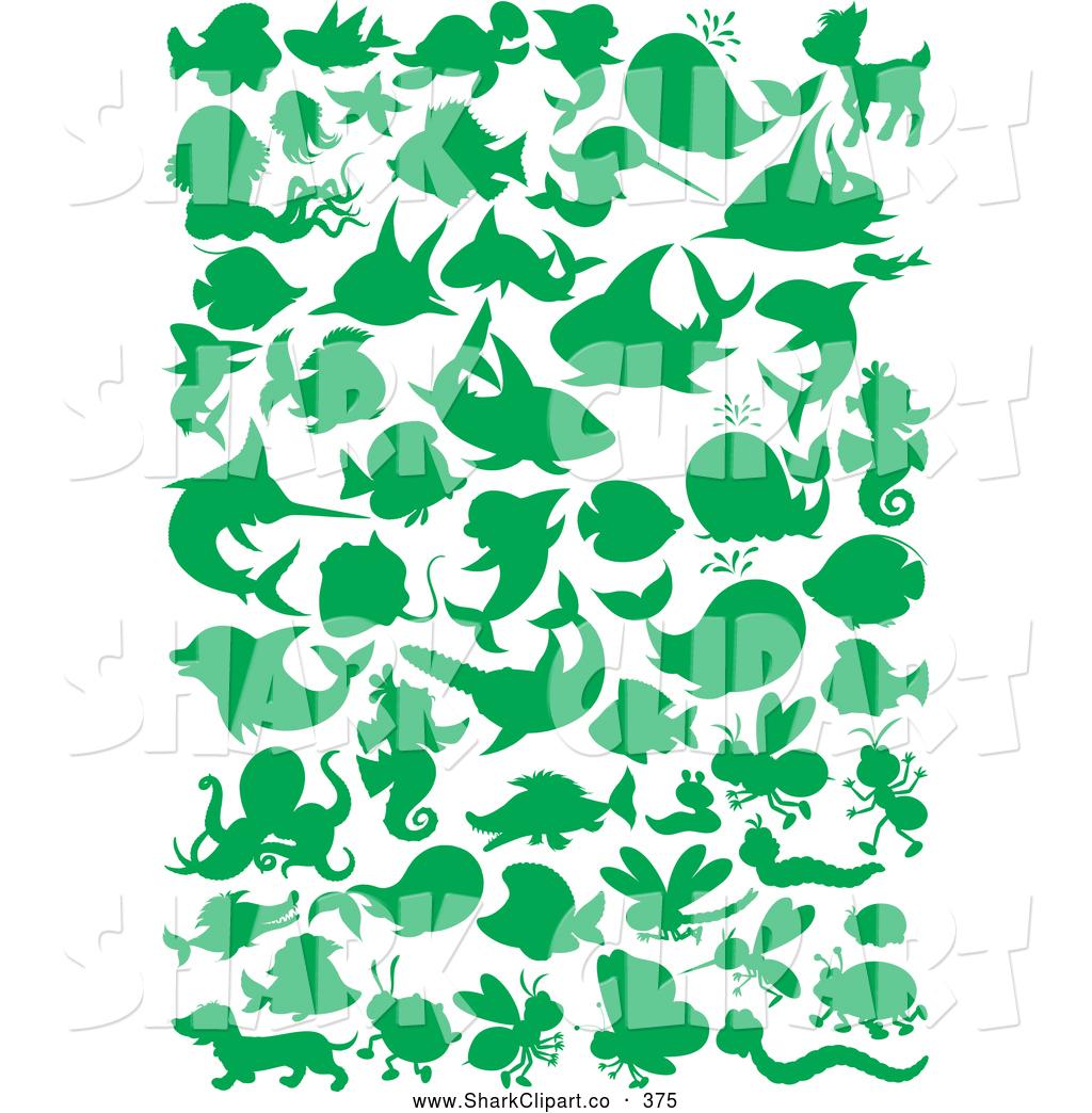 Shark clipart green #6