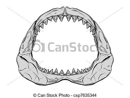 Shark clipart jaws #11