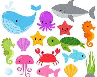 Octopus clipart jellyfish Digital the Under The Clip