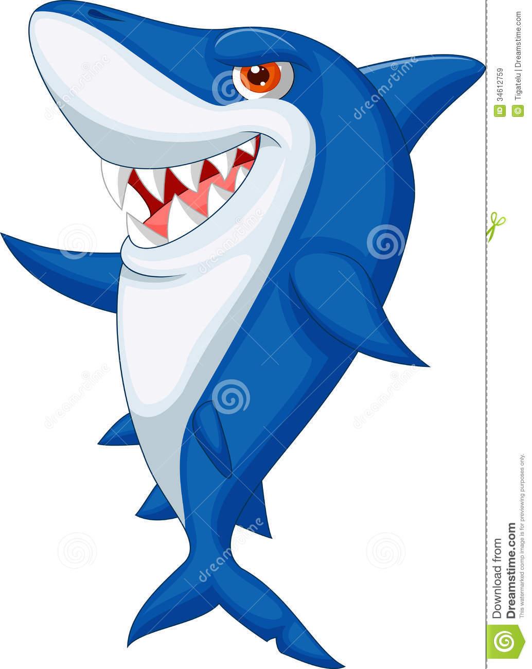 Shark clipart toon #8