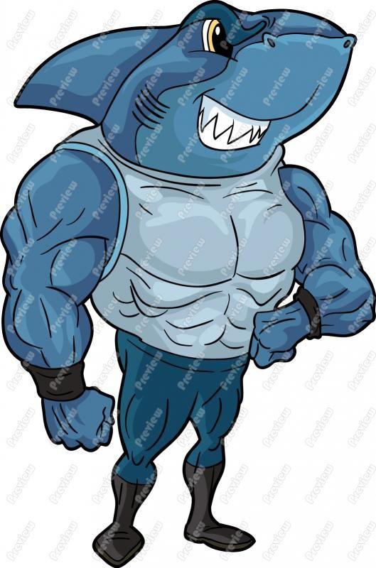 Shark clipart toon #2
