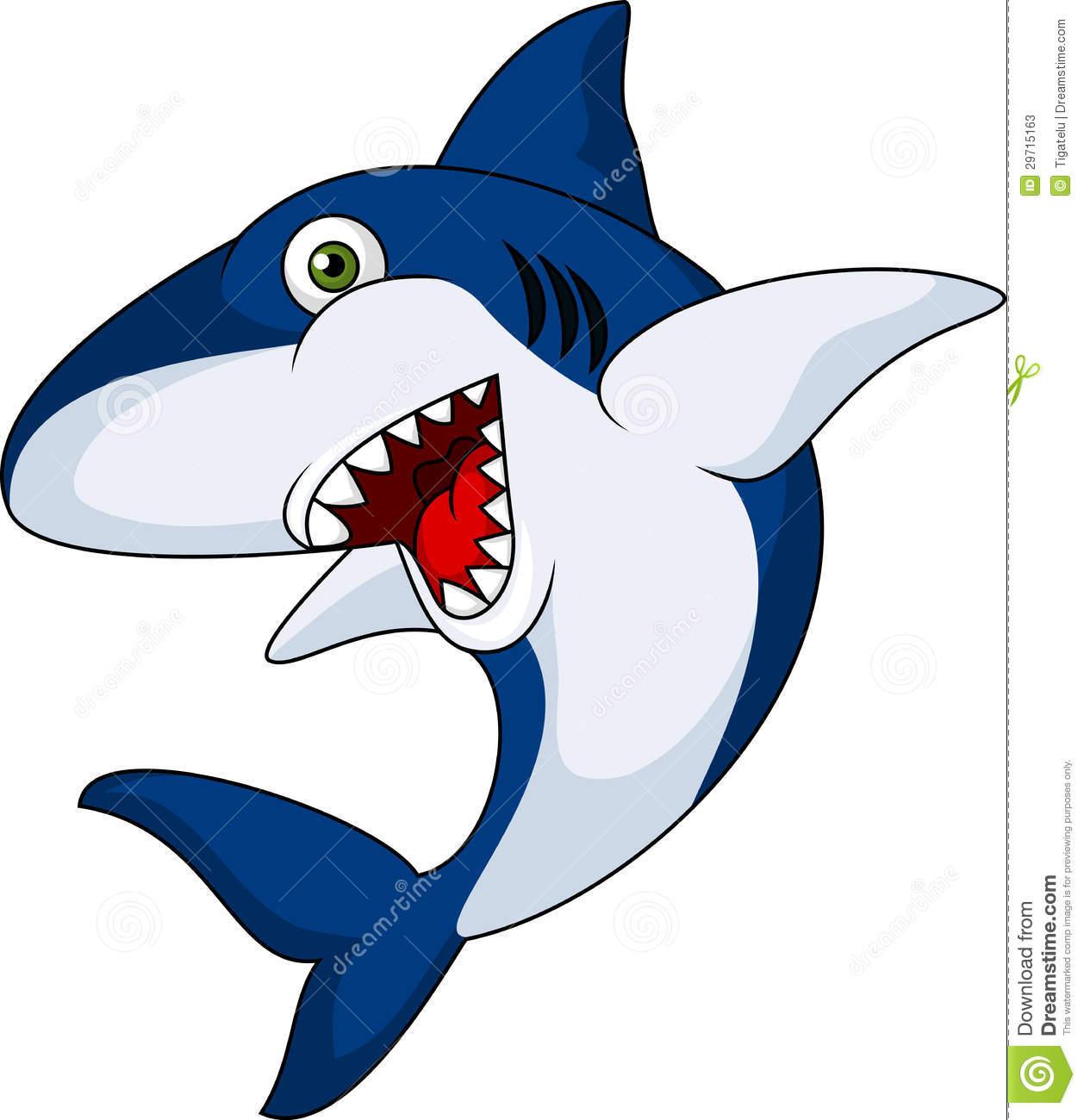 Shark clipart toon #3