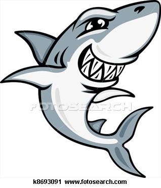 Shark clipart toon #6