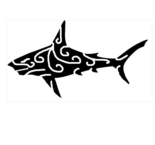 Shark clipart tribal #4
