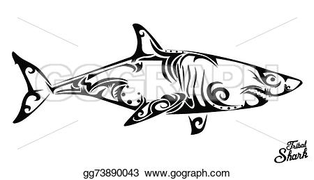 Shark clipart tribal #8