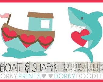 Shark clipart valentine #3