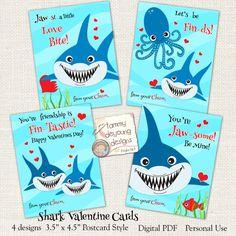 Shark clipart valentine #10