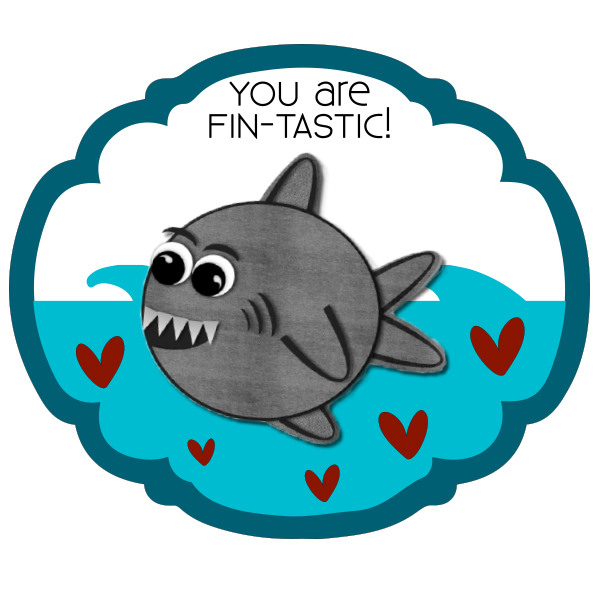 Shark clipart valentine #7
