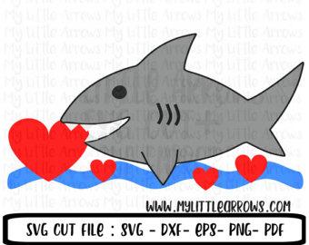 Shark clipart valentine #4