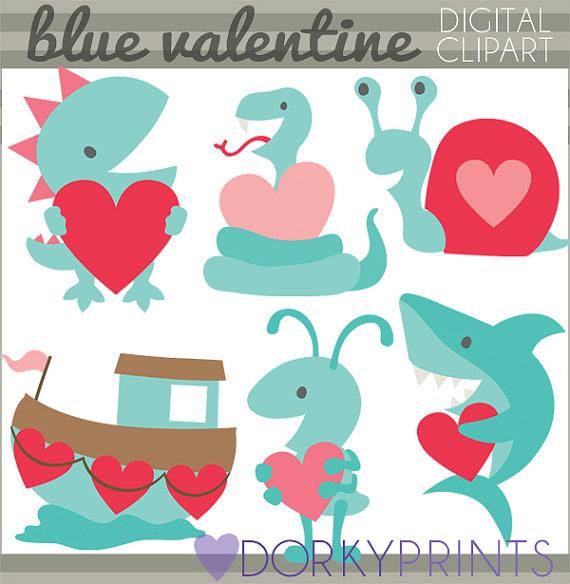 Shark clipart valentine #8
