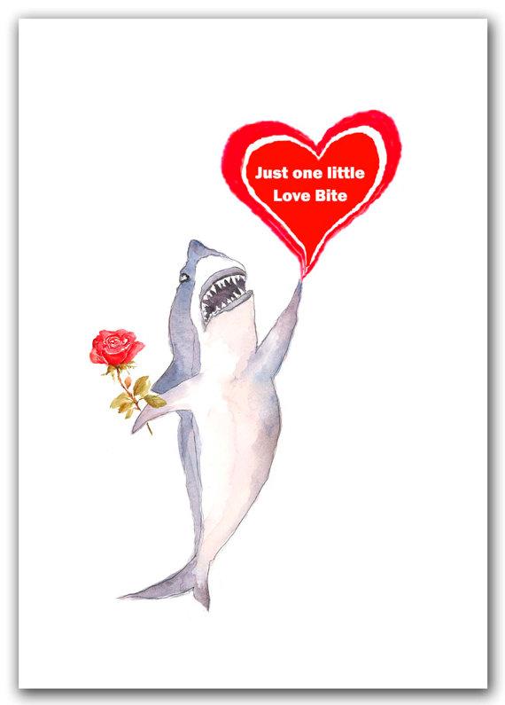Shark clipart valentine #6