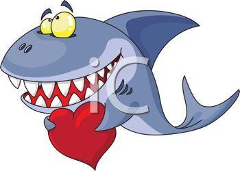 Shark clipart valentine #13