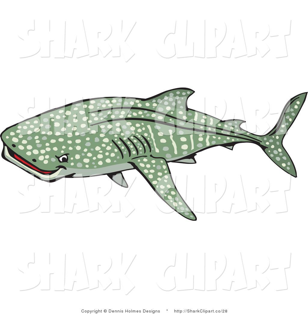 Shark clipart green #3