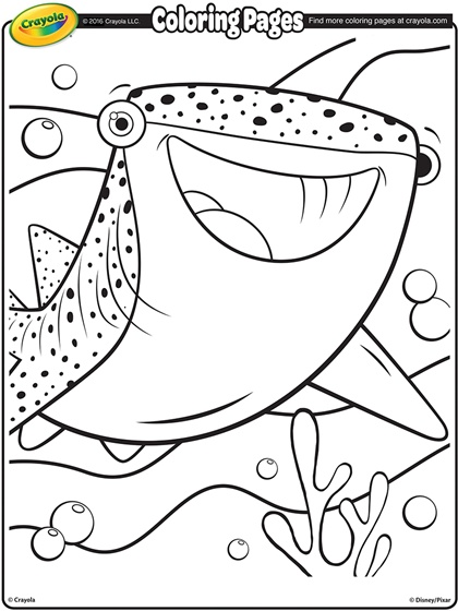 Sharkwhale clipart coloring #11