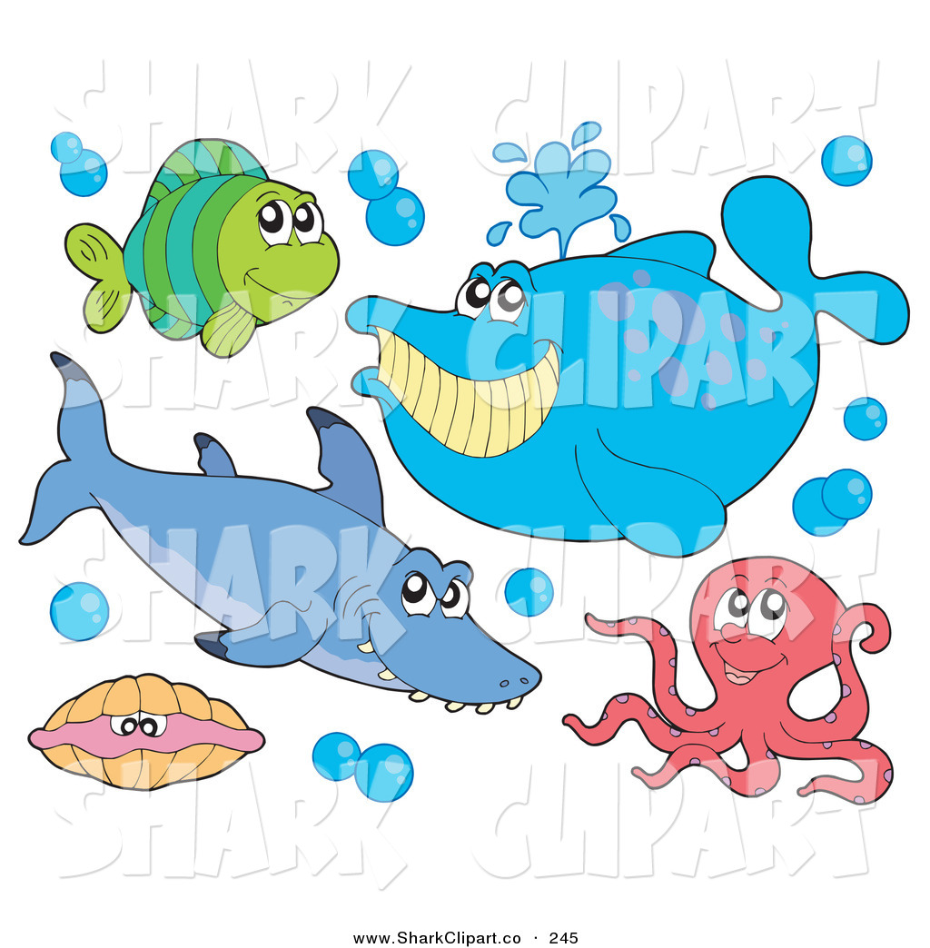 Sharkwhale clipart happy #2