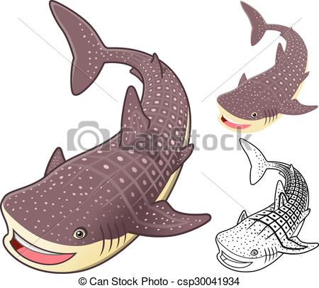 Sharkwhale clipart line drawing #12