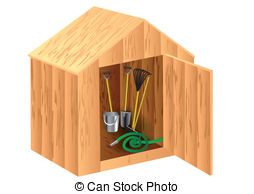 Shed clipart Stock shed a background isolated