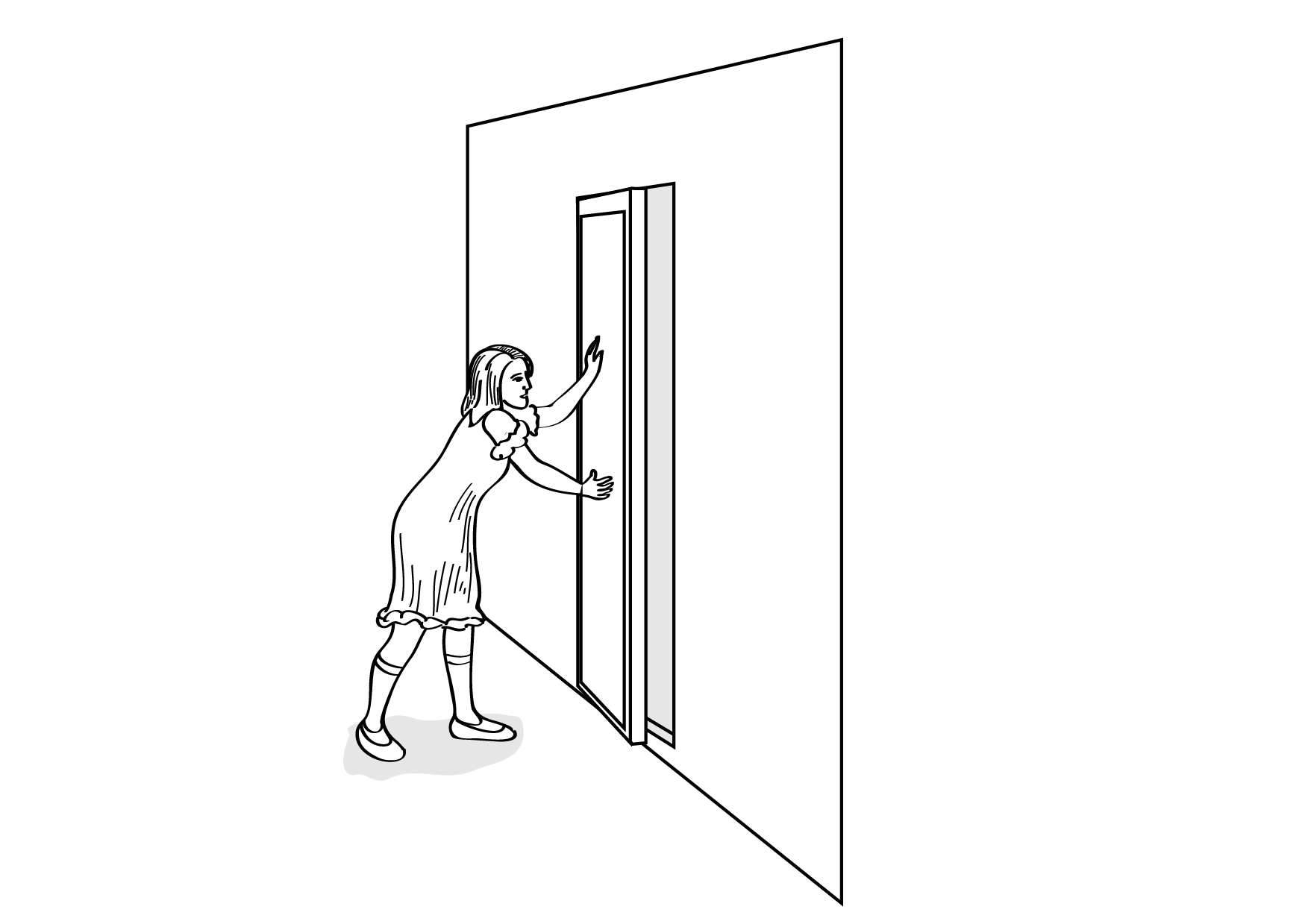 Door clipart coloring page #12