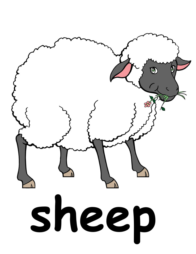 Sheep clipart Black com Head White Free