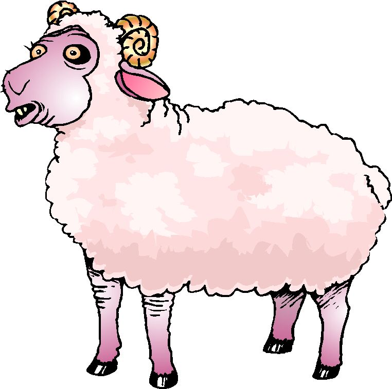 Sheep clipart colored #11