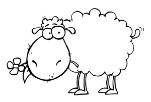 Sheep clipart colored Free colored image sheep and