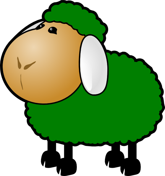 Sheep clipart colored Black and clipart Clipartix art