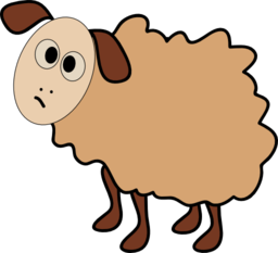 Sheep clipart confused #5