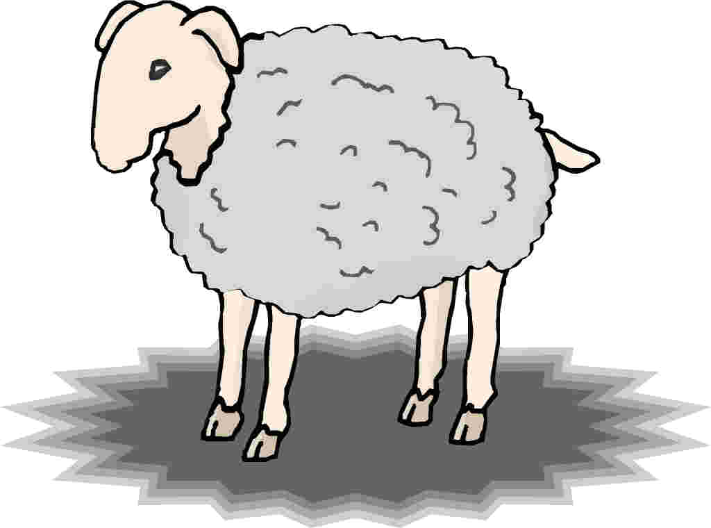 Sheep clipart confused #4
