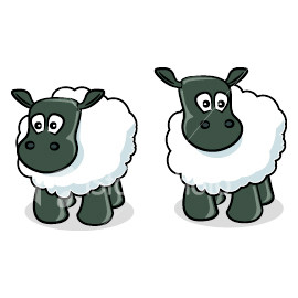 Sheep clipart confused #2